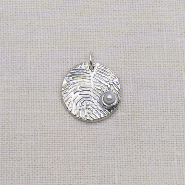 how to make silver fingerprint charms