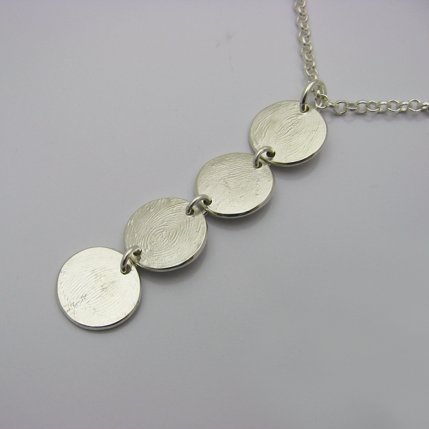 necklace gold personalised and bean fingerprint product by rose original button tiny buttonbean