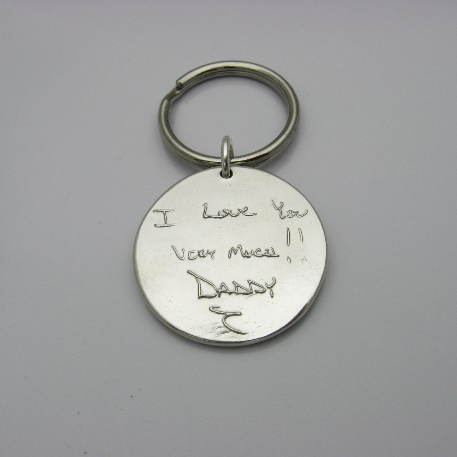 Sterling Silver Keychain Embossed Or Engraved With Your